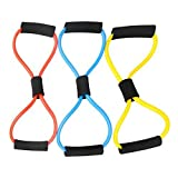 Fitness Pull Exerciser Rope Arm Chest Strength Training Sponge Handle Random Color Package of 1