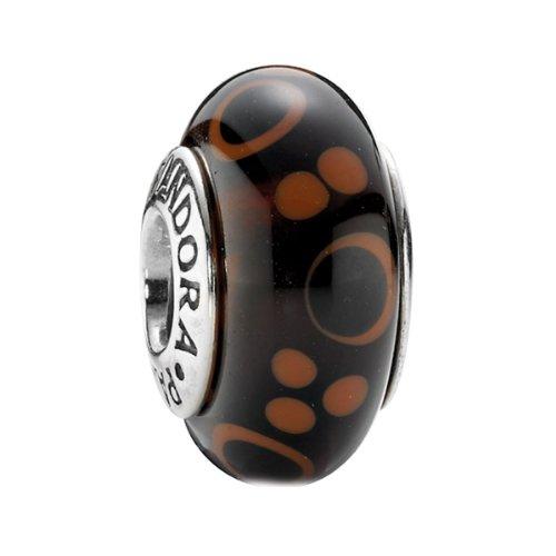 Pandora Damen-Charm Muranoglas braun mit Sterlingsilber 790689