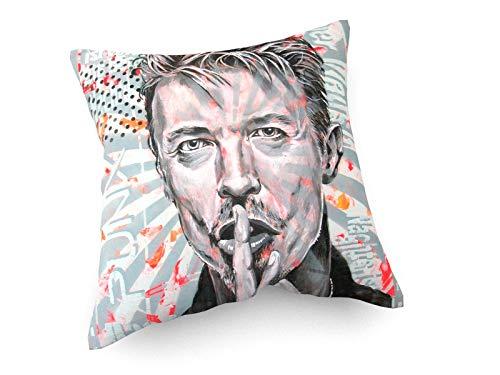 weewado Diedel Heidemann - 80er Jahre Ikonen - Mr. Bowie - 30x30 cm - Sofa-Kissen aus Satin - Kunst, Gemälde, Foto, Bild auf Kissen - Street Art
