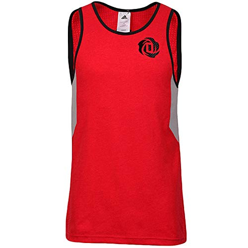 adidas Performance Rose 773 Herren Tank Top rot, Herren, rot, XLT (Derrick Rose Logo Shirt)