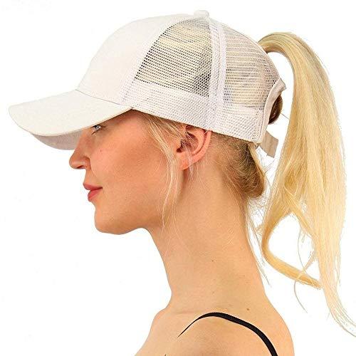 Saingace(TM) Mode Schachtelhalm Baseball Cap Adjustable Unisex Baseballmütze,Tennis Hut Einfache Lässig Kappe Sonnenschutz Sonnenhut Laufen Hut für Draussen Sport Reisen (Weiß)