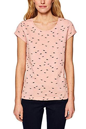 edc by ESPRIT Damen 039CC1K023 T-Shirt, Rosa (Light Pink 690), Small (Herstellergröße: S)