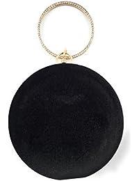ELEGANT BLACK PREMIUM EVENING CLUTCH BAG WITH ADJUSTABLE SHOULDER CHAIN, SNAP CLOSURE & SMOOTH INNER SATIN