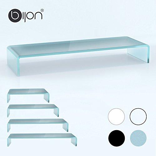 glasshop24 bijon® TV Glasaufsatz Monitor Erhöhung (B/T/H) 1100x300x130mm - satin