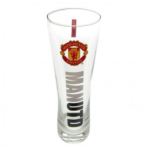 Offizielle Manchester United Peroni Stil Pint Glas-Mehrfarbig