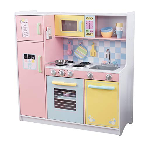 KidKraft 53181 Cocina de juguete Large Pastel de madera para...