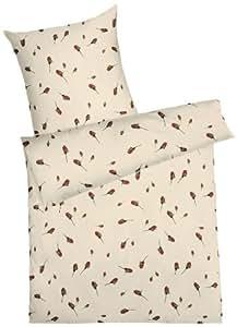 kaeppel g 008445 08d3 vakb bettw sche rosenknospen feinbiber 1 x 80 80 1 x 155 220 cm weiss. Black Bedroom Furniture Sets. Home Design Ideas