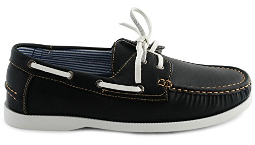 SC , Chaussures bateau pour homme ordinaire Noir