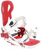 beyondsnow Damen/Herren Snowboard Bindung weiß/rot M (Größe 38-41)