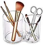 XWYSSH organizzatori Cosmetic Storage Box Acrilico Trasparente Make Up organizzatore Trucco Holder Storage Box Spazzola del Labbro Pennello Cotton fioc Box