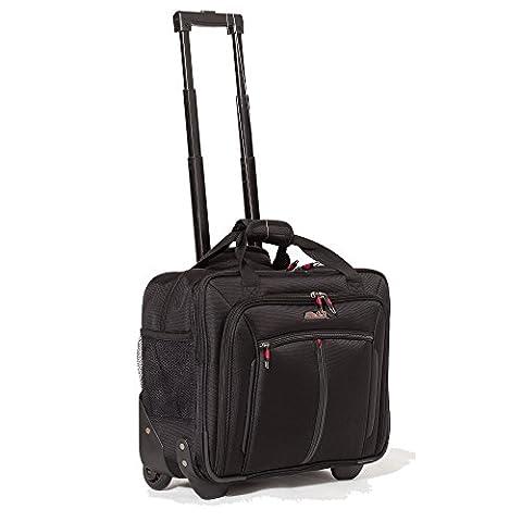 Aerolite Sac à roulettes pour ordinateur portable Trolley pour PC portable - Baggage à main pour Ryanair, Air France
