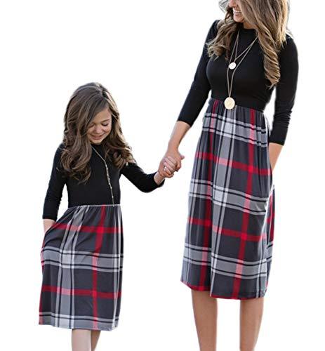 038e1193bef8 Kasonj Vestito da Principessa per Ragazza Figlia di Madre Mini Abito da  Abbinare Accessori per La