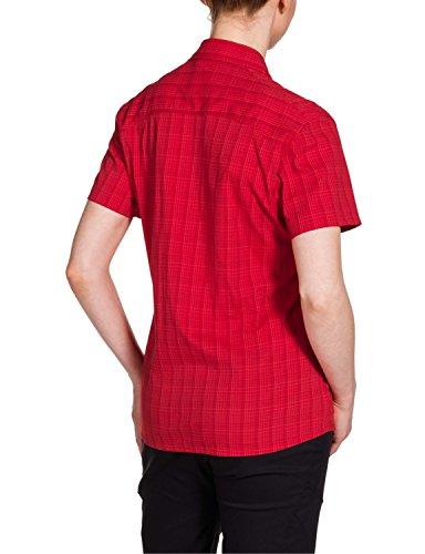 Jack Wolfskin Damen Bluse Centaura Stretch Vent Shirt Red Fire Checks