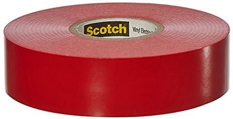 Scotch© 35 Vinyl Electrical Tape Red 19 mm x 20 m