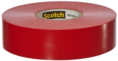 Preisvergleich Produktbild 3M 80611211568 35 Scotch Elektro Isolierband,  Vinyl,  19 mm x 20 m,  Rot