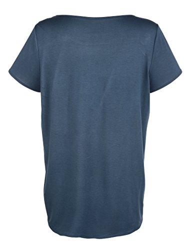 Damen Shirt mit Seideneinsatz im Vorderteil by Lieblingsstück Hellblau