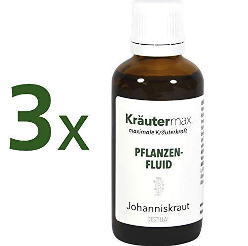 Johanniskraut Pflanzenfluid 3 x 50 ml • Johanniskrauttropfen • Destillat von Johanniskraut •...