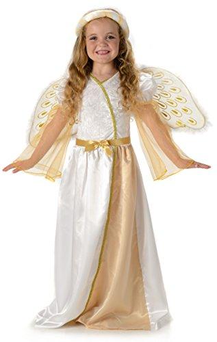 Himmlisch Engel Mädchen Weihnachtskrippe Kinder Kostüm (Small 3 -4 Jahre)