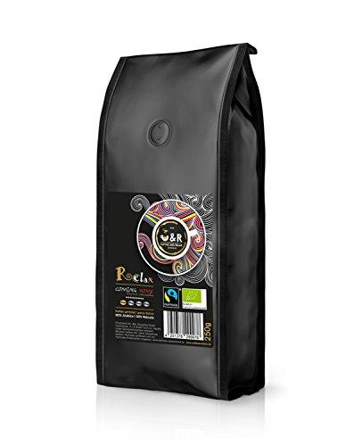 """C&R coffeeandrelax, """"Relax - Coming Home"""" 250g; extrem hochwertiger premium Bio und Fairtrade Kaffee -> offiziell zertifiziert; spezielles Trommelröstverfahren auf höchstem Niveau, ganze Bohnen"""