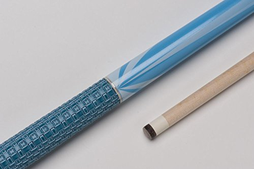 MIT MF0-005 Billard-Queue für Poolbillard, 2-teilig, mit Klebeleder, Vollholz-Oberteil, Leinen-Griffband, inkl. Gewindeschoner