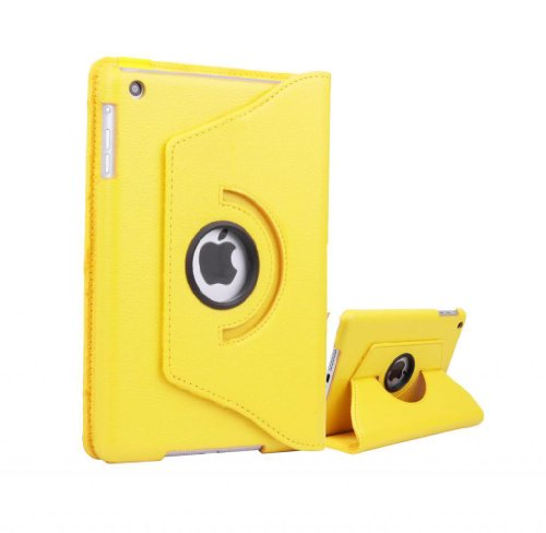 Apple Ipad Mini 4 (2015-2016) 360 Degree rotation Yellow Horizontal & Vertical View Leather Cover For Apple New Ipad Mini 4 (2015-2016) by G4GADGET®