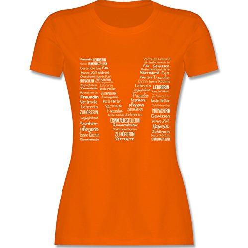 Muttertag - Mama ist die Beste - tailliertes Premium T-Shirt mit Rundhalsausschnitt für Damen Orange