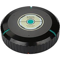 Robot aspirador HKFV de diseño inteligente, súper creativo; Mini máquina barre de manera automática, ayuda con limpieza su habitación sin ti, plástico ABS, negro, Size:Diameter about 22cm,height 5cm