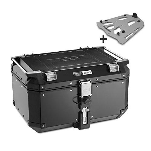 Aluminio Top Case Set BMW F 800 R 09-16 Givi Monokey OBK58B negro con soporte aluminio incluida