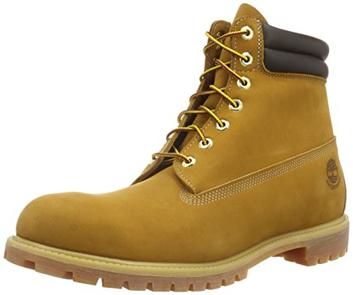 Timberland 6 inch Double Collar Waterproof, Stivali Uomo, Giallo (Wheat Nubuck 231), 49 EU
