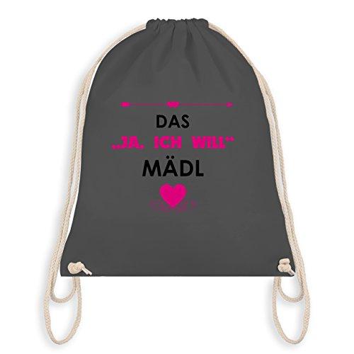JGA Junggesellinnenabschied - Das Ja, ich will Mädl - Turnbeutel I Gym Bag Dunkelgrau