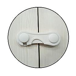 Safe-O-Kid - Pack of 8 - High Quality, Durable, Elegant Child Safety Eudemon Lock - WHITE