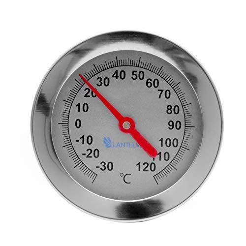 Lantelme Edelstahl Kompostthermometer -30 bis +120 Grad Sonde 50 cm Komposter Erdboden Kompost Thermometer Analog 6115 (Edelstahl-kompost-thermometer)