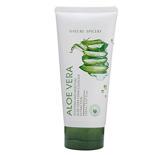 Gesichtsreiniger, feuchtigkeitsspendender, pflegender Reiniger, Aloe Vera-Milchreiniger für grünen Tee, erfrischend und befeuchtend, die Haut bleibt geschmeidig (Aloe) -