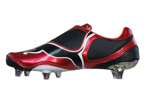Puma V1.08 sg 10145409, Football Homme Rouge, noir et blanc