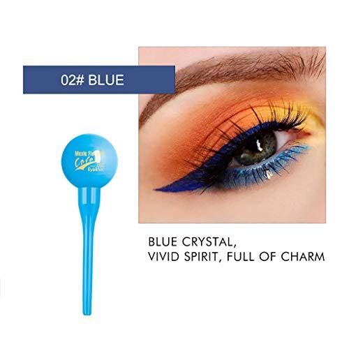 VANMO Kosmetik Eyeliner,4 Farben Bunt Gemalt Tarnungs Eyeliner Wasserdicht und langlebig...