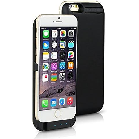 mondpalast@ Negro USB Externos 3000 mah batería Funda Cargador Para Apple iphone 6 IPHONE 6 4.7