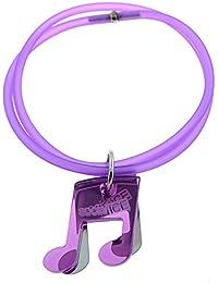 Tatitoto Bracelet Femme en Acier/Méthacrylate/PVC Violet, Ligne SocialTube, Réglable, 10 Grammes