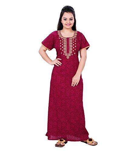 4a1505fcf6 Buy MMCREATIONS Fancy Nighty/ Night Wear/ Sleep Wear With Robe For ...