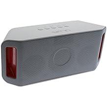 Sveon SON36_02 - Altavoz Bluetooth con USB/MicroSD MP3 Player y Radio, color blanco