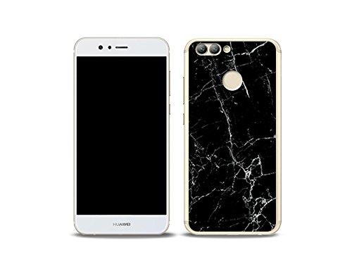 etuo Huawei Nova 2 Handyhülle Schutzhülle Etui Hülle Case Cover Tasche für Handy Fantastic Case - Schwarze Marmor
