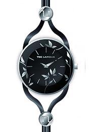 Ted Lapidus - A0525RNIN - Montre Femme - Quartz Analogique - Cadran Noir - Bracelet Cuir Noir