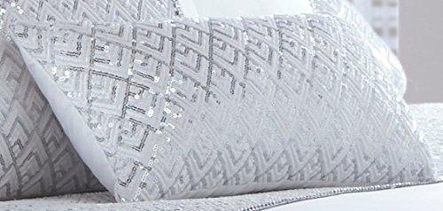 Portfolio Shimmer Petit Kissen, Polyester, Weiß, 32x 5x 20cm -