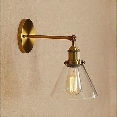 VLING Wandlampe, Mini-Stil Retro/Vintage/Traditionell/Klassisch Wandleuchten & Wandlampen Wohnzimmer/Geschäfte/Cafés Metall Wandleuchte 85V-240V, Bronze -