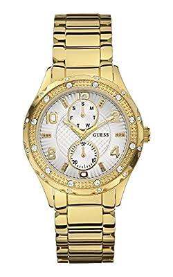 Guess W0442L2 - Reloj de cuarzo para mujer, correa de acero inoxidable color dorado