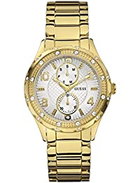 Guess Damen-Armbanduhr Analog Quarz Edelstahl beschichtet W0442L2