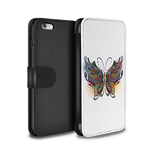 STUFF4 PU-Leder Hülle/Case/Tasche/Cover für Apple iPhone 4/4S / Schmetterling Muster / Deko-Tiere Kollektion Schmetterling