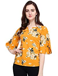 J B Fashion J B Women Printed Top with Half Sleeves for Fancy Top, Casual Wear, Under 399 Top for Women/Girls Top