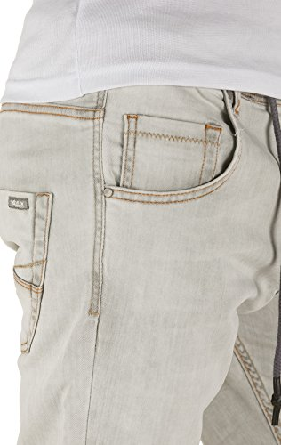 Yazubi Herren Sweathose in Jeansoptik Steve - Jogginghose in Jeans-Look opal grey (3801)