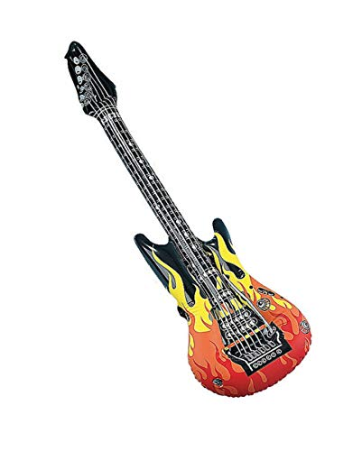 Rock Kostüm Star Vinyl - Horror-Shop Luftgitarre als Rockstar Kostümzubehör