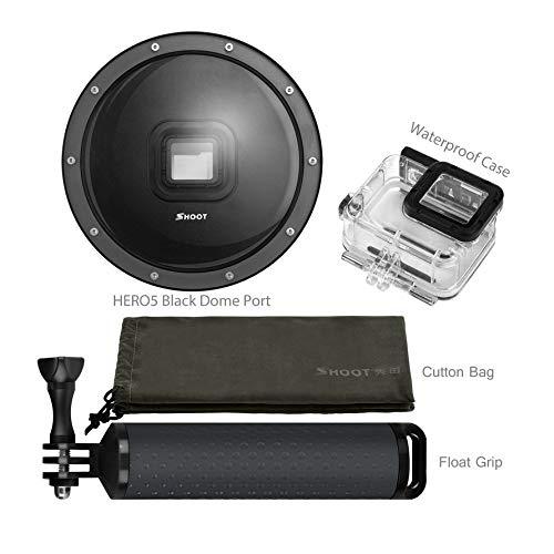 Preisvergleich Produktbild Huihuiya Dome Port für Gopro for Hero 6 5 Mit Etui Universal Spherical Water Lens Hood-Black